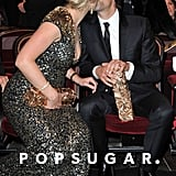Kate Winslet kissed Ned Rocknroll at the February 2012 Cesar Awards in Paris.