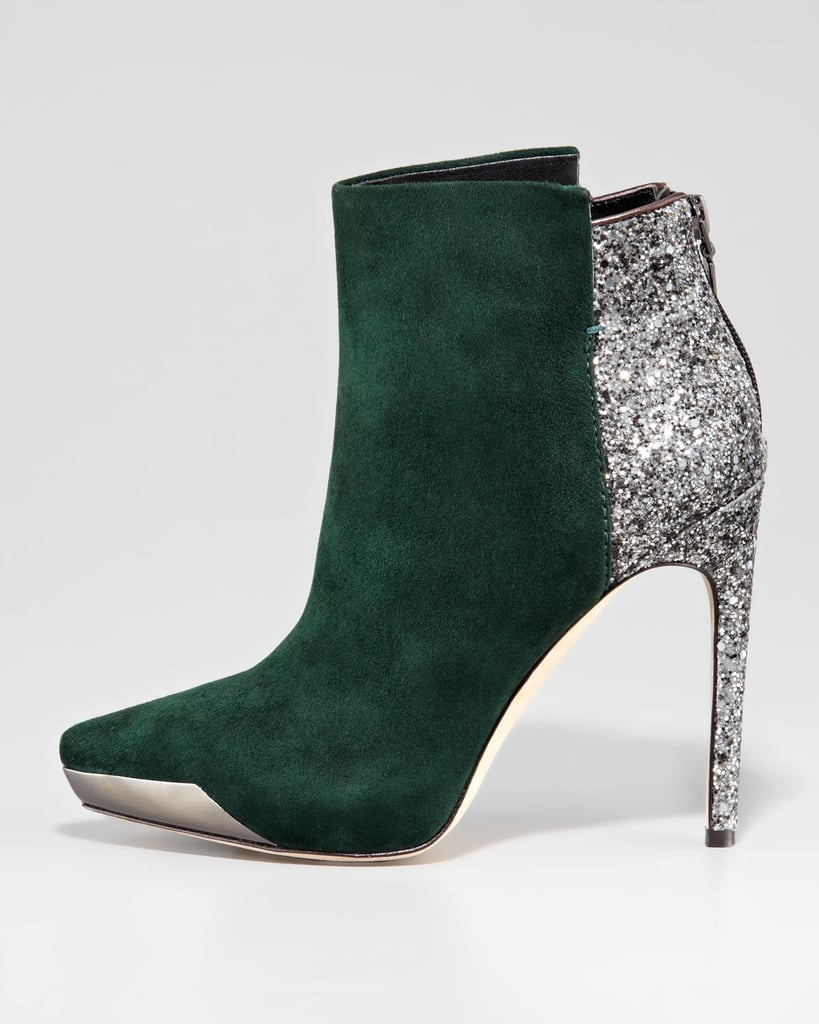 This Rachel Roy suede and glitter bootie ($297, originally $425) is the ultimate holiday party shoe.