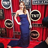 Jennifer Lawrence in her Dior Couture gown. Source: Instagram user sagawards