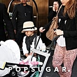 Jessica Alba loaded daughters Honor and Haven into the car outside their NYC hotel.