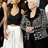 Ariana Grande and Grandmother Marjorie at the 2016 American Music Awards
