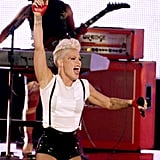 Pink gave a performance at the VMAs.