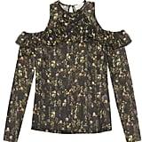 Preen by Thornton Bregazzi Lera silk-georgette cutaway-shoulder top ($665)