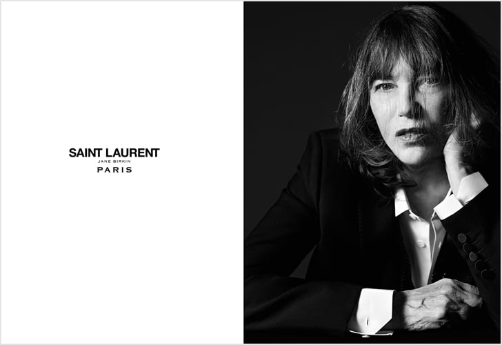 Jane Birkin in Saint Laurent Campaign Spring 2016