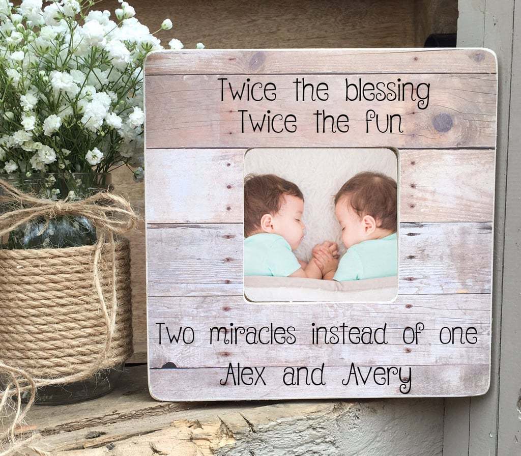 Personalized Twin Photo Frame | Baby Shower Gifts For Twins ...