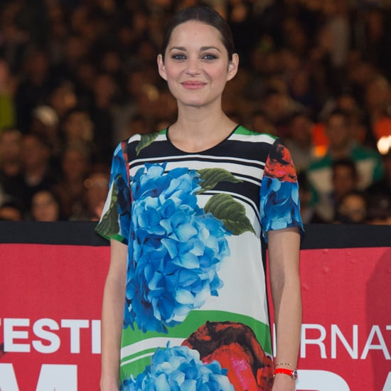 Marion Cotillard Floral Red Carpet Dress
