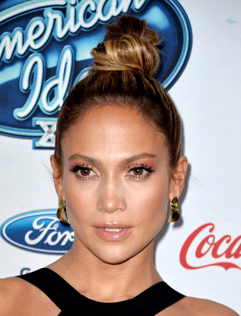 Jennifer started a trend when she wore this tall topknot on the American Idol red carpet.