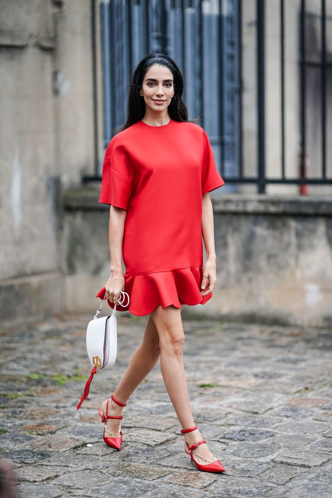 Add a Headband to Your Favorite Red Dress
