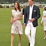 Kate Middleton and Prince William were the match's hosts.