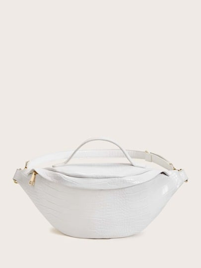 Shein Croc Embossed Fanny Pack