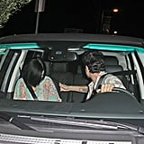 John Mayer backed his car up with Katy Perry in the passenger seat.