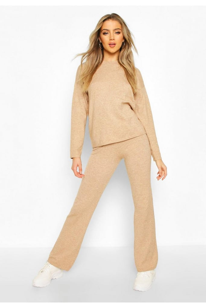 Soft Yarn Blend Sweater & Pants Set