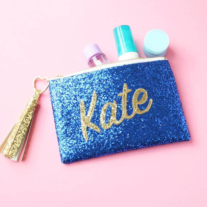 sos15 personalised name glitter clutch bag its all about you