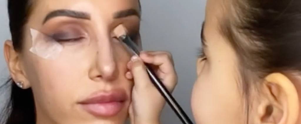 Little Girl Does Mom's Makeup in TikTok Video
