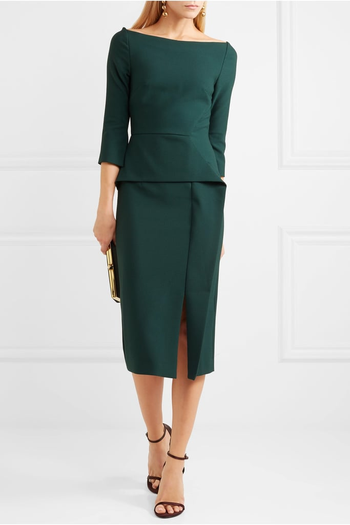 Roland Mouret Ardingly Crepe Midi Dress
