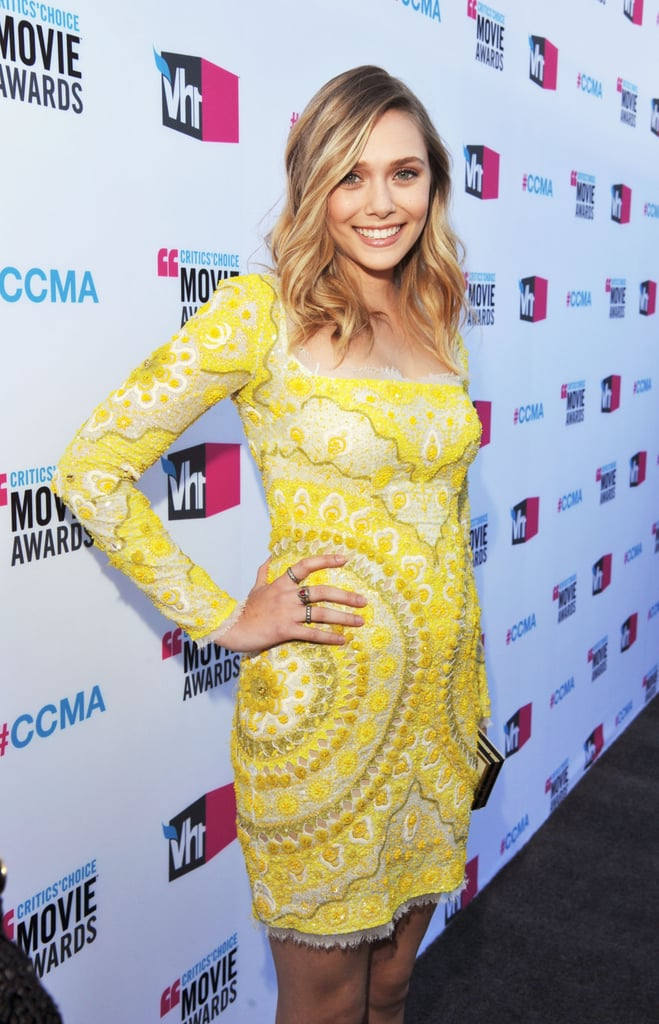 Elizabeth Olsen wore Pucci to the Critics' Choice Movie Awards.