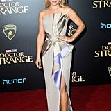 Rachel put a sexy spin on glamour in this Atelier Versace number at the Doctor Strange premiere in California.