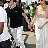 Jennifer Lopez and Casper Smart went out to lunch on her birthday.