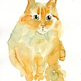 This classic watercolor portrait ($38) would fit right in with the rest of your art collection.