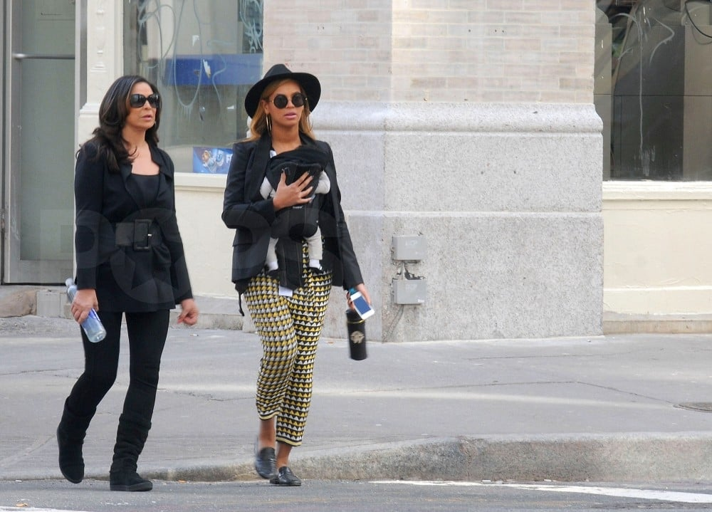Beyoncé Knowles and Blue Ivy Carter walked in NYC.