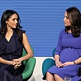 Meghan Markle and Kate Middleton Wearing Blue