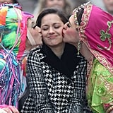 Marion Cotillard (centre) received some celebratory kisses when she was honoured as the Hasty Puddings Theatrical Woman of the Year on January 31.