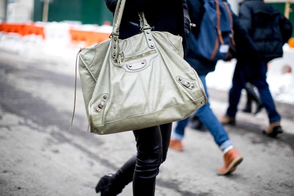 What's better than a Balenciaga motorcycle bag? A supersize one.