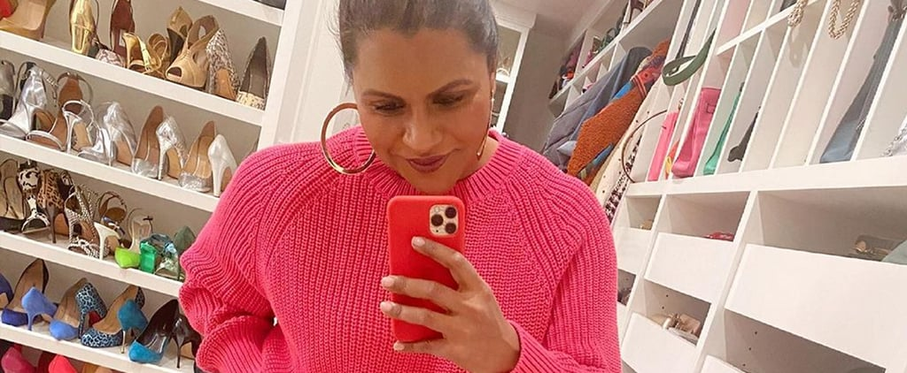 Mindy Kaling's Color-Coordinated Shoe Closet | Instagram