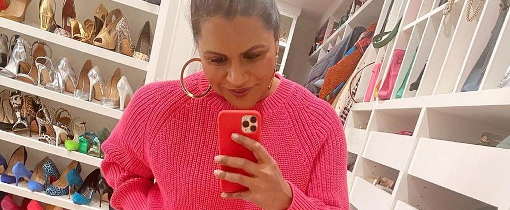 Mindy Kaling's Color-Coordinated Shoe Closet | Instagram