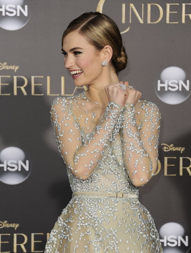 lily james hair and makeup looks over the years popsugar