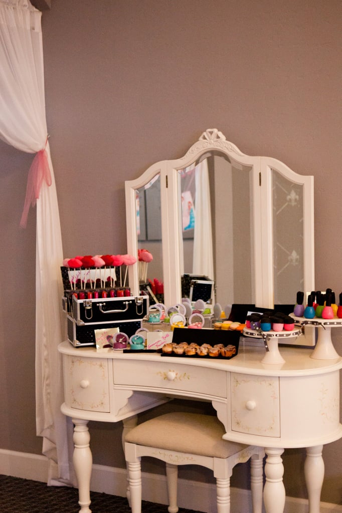 Makeup Sweet Station Project Runway Kids Birthday Party
