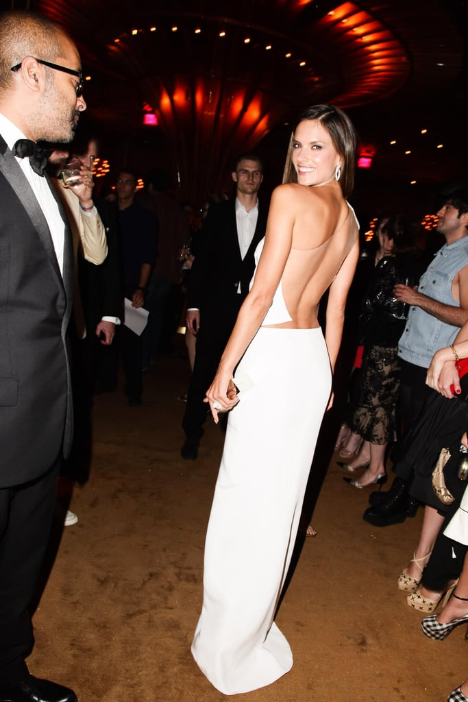 Alessandra Ambrosio wore a backless dress to Swarovski's CFDA Awards afterparty. Source: Matteo Prandoni/BFAnyc.com