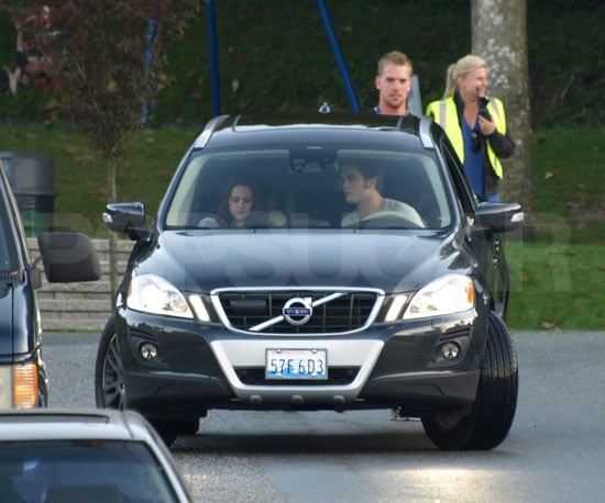 Slide Photo of Robert Pattinson and Kristen Stewart Filming Eclipse in Vancouver