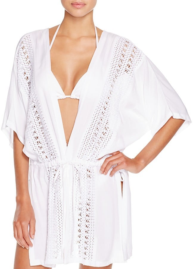 b0d22dd84c1f Echo Crochet Inset Kimono Swim Cover Up ( 98)