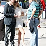 Kate Bosworth had her arm around Michael Polish to visit the 9/11 memorial in NYC.