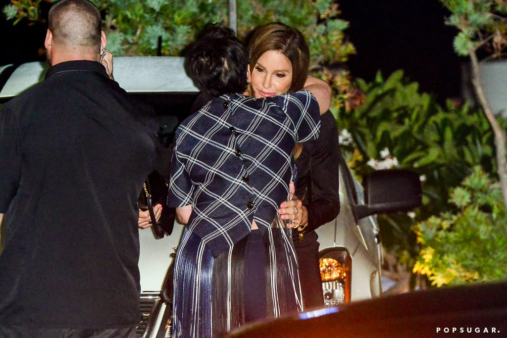 Caitlyn and Kris Jenner Hug at Nobu | Pictures