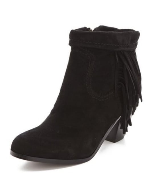 We'd add these Sam Edelman Louie fringe booties ($160) to our boho sweater coats and favorite jeans.