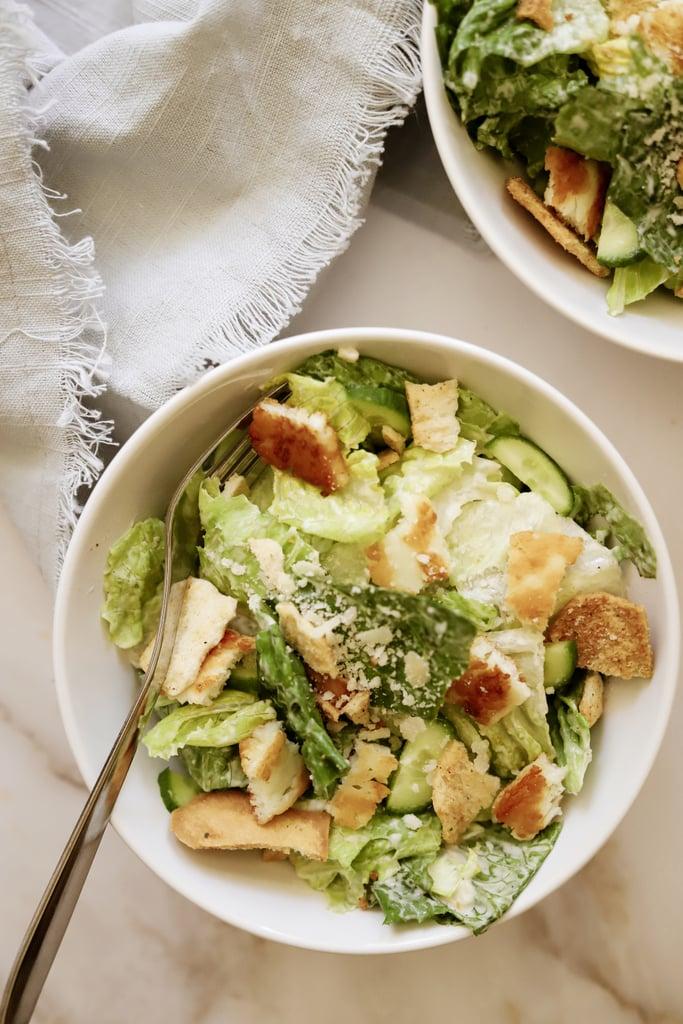 How to Make This Light Mediterranean Caesar Salad