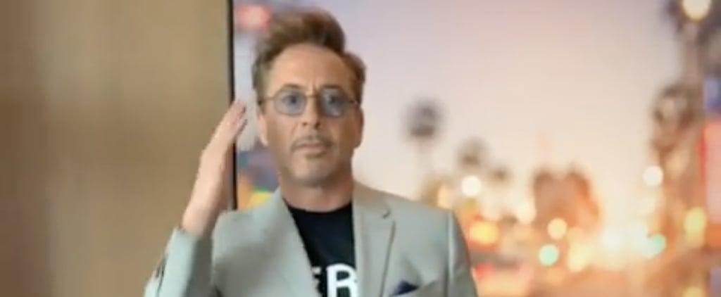 Robert Downey Jr. Dancing During Avengers Press Tour