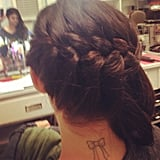 Lucy Hale showed off an impressive early-morning braid job. Source: Instagram user lucyhale89