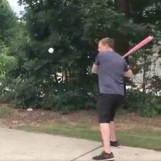 Dad's Baseball Gender Reveal Fail