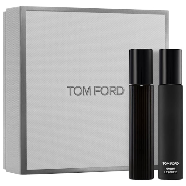 Tom Ford Black Orchid & Ombre Leather Travel Spray Set