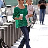 Pictures of Ben Affleck, Seraphina and Jennifer Garner