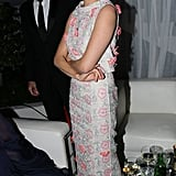 Sienna Miller played it coy at the Weinstein afterparty.