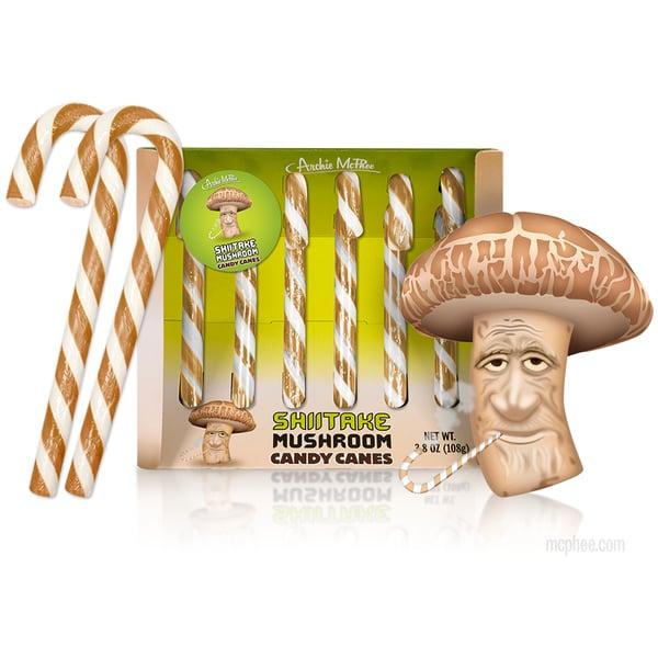 Shiitake Mushroom Candy Canes