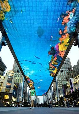 Gigantic LED Screen Installed In Beijing Mall
