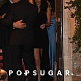 Amal Clooney Wears Black Dress in Italy June 2019