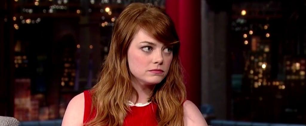 Emma Stone Interview on Letterman July 2014 | Video