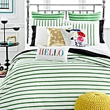 Stripe Picnic Green Twin Duvet Cover Set ($160)