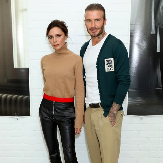 Victoria Beckham Wearing Leather Pants